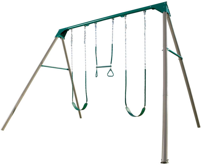 Lifetime Three-Station Metal Swing Set - Earthtone
