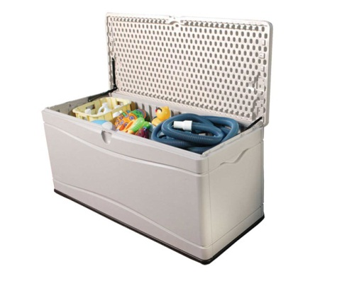 Great Lifetime Sheds 130 Gallon Plastic Deck / Storage Box
