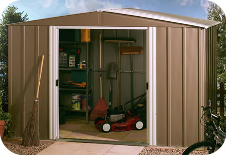 Arrow 10x10 European Metal Storage Shed Kit