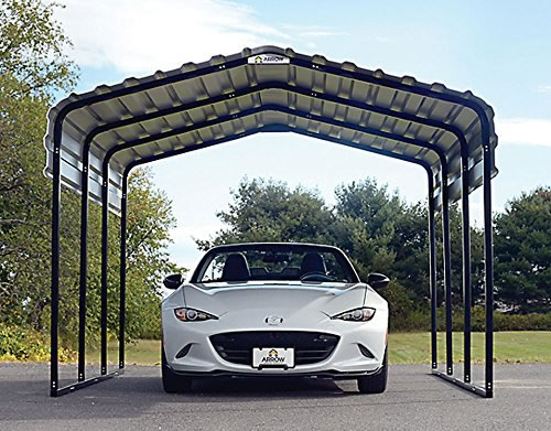 Arrow Steel Auto Carport Front View
