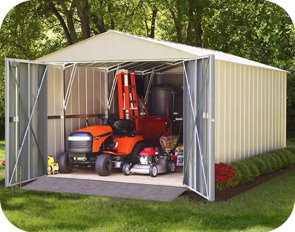 arrow 10x20 commander metal storage shed kit