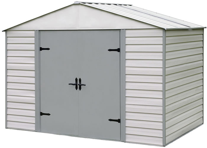 Arrow 10x7 Viking Vinyl Coated Steel Shed Kit