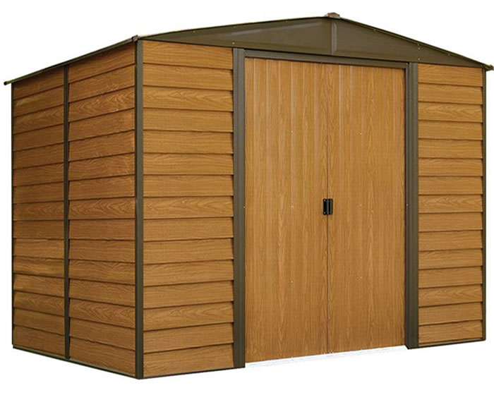 Arrow dallas 10x8 39 storage shed simple wood bird house for 10 x 8 metal shed with floor