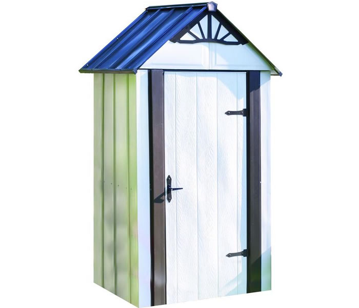 arrow 4x2 designer metro steel shed kit w flooring - Garden Sheds Small