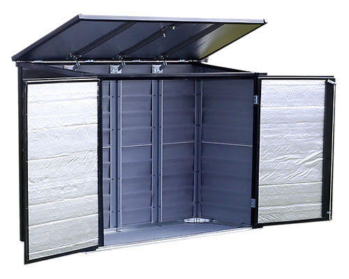 Arrow 6x3 Versa Shed Locking Horizontal Storage Shelter   Onyx