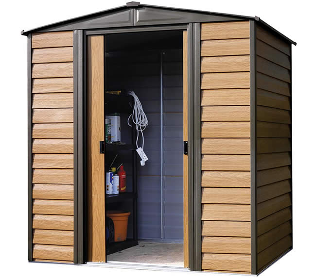 Arrow 6x5 Woodridge Metal Storage Shed Kit