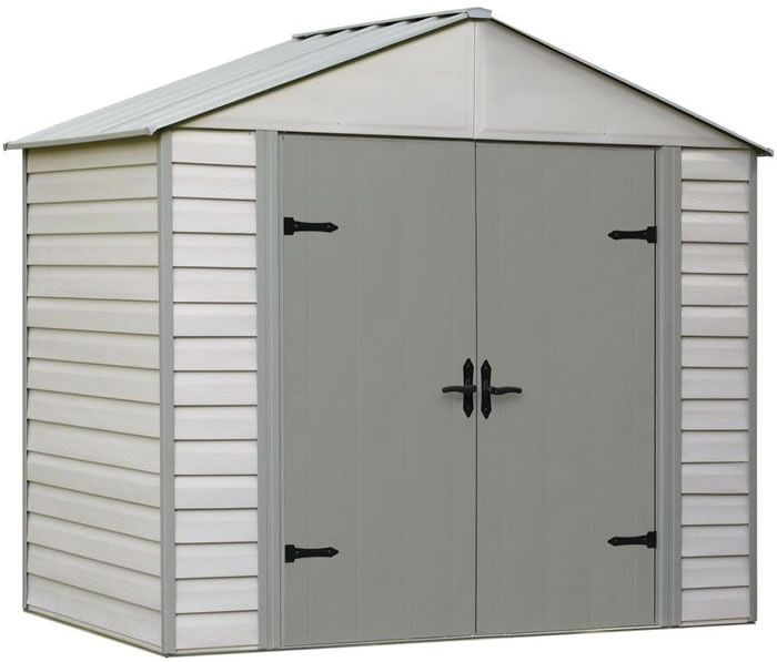 Arrow 10x7 Viking Vinyl Coated Steel Shed Kit : storage sheds vinyl  - Aquiesqueretaro.Com