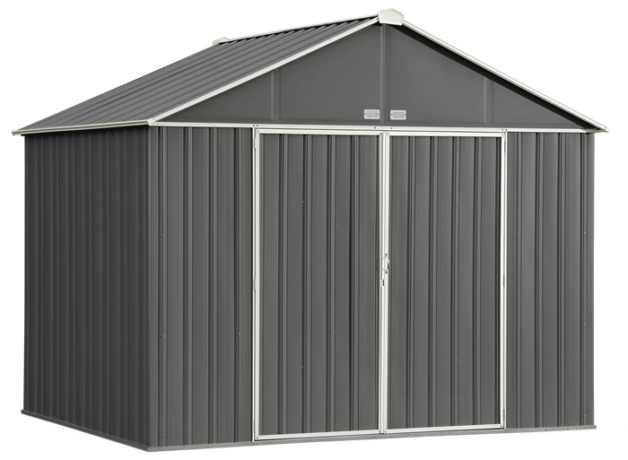 Arrow 10x8 Ezee Storage Shed Kit Charcoal And Cream