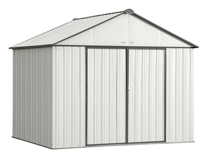 Arrow 10x8 Ezee Storage Shed Kit - Cream & Charcoal