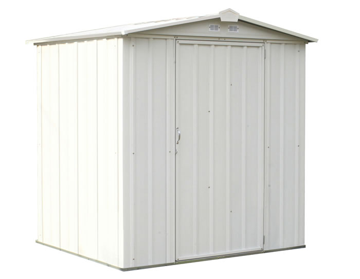 Arrow 6x5 Ezee Storage Shed Kit - Cream