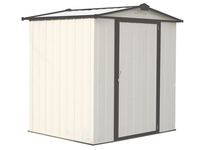 Arrow 6x5 Ezee Storage Shed Kit - Cream & Charcoal