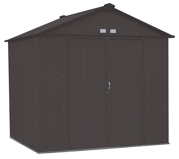 Arrow 8x7 Ezee Storage Shed Kit - Charcoal