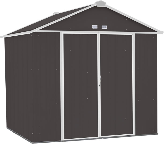Arrow 8x7 Ezee Storage Shed Kit - Charcoal & Cream