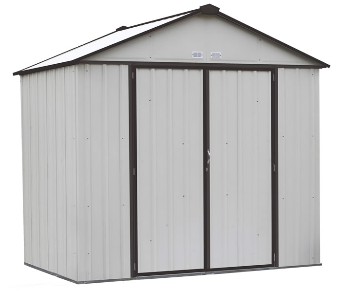 Arrow 8x7 Ezee Storage Shed Kit - Cream & Charcoal