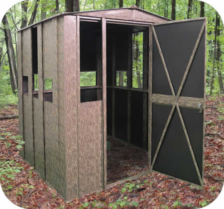 Arrow Sheds 6x6 Camo Steel Hunting Shack