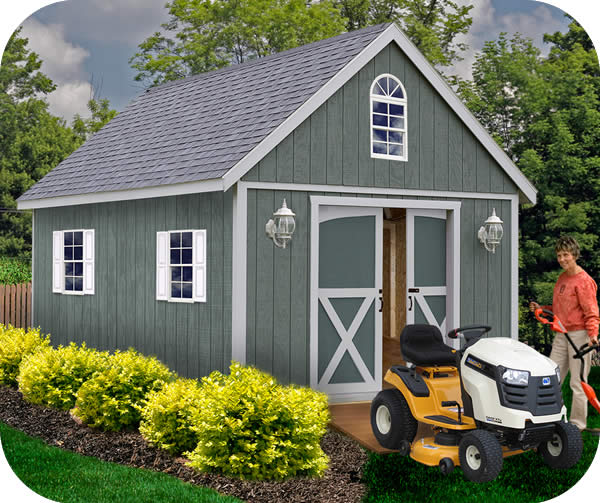 Best Barns Belmont 12x16 Wood Storage Shed Kit