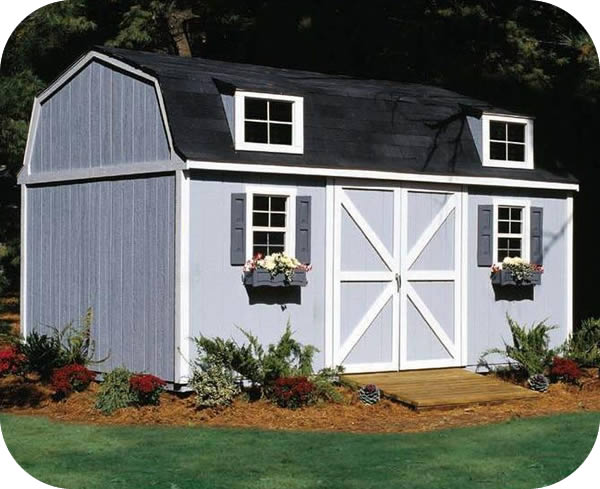 Handy Home Berkley 10x14 Wood Storage Shed w/ Floor