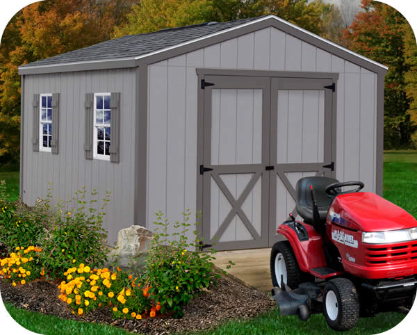 Elm 10x16 Wood Storage Shed Kit - ALL Pre-Cut