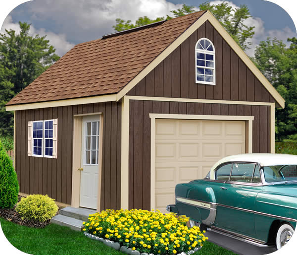 Best Barns Glenwood 12x16 Wood Storage Garage Kit
