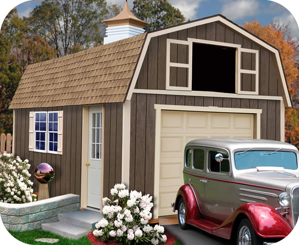 Best Barns Tahoe 12x16 Wood Storage Garage Shed Kit
