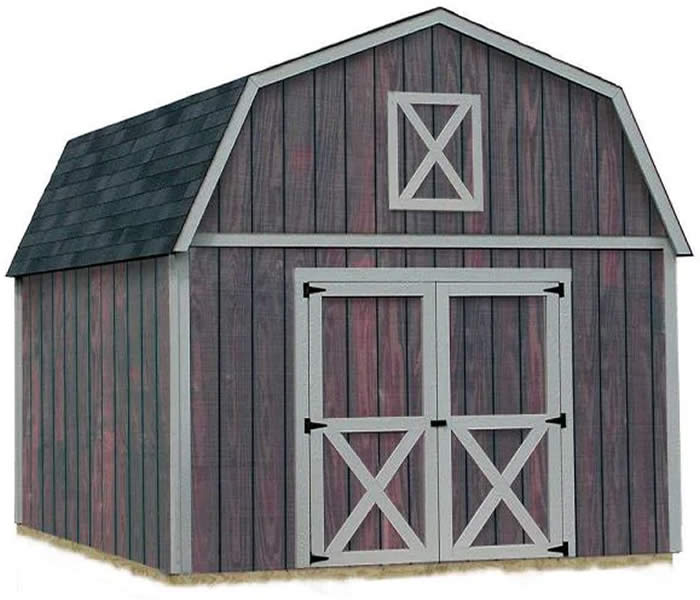 Denver 12x16 Wood Storage Shed Building Kit - ALL Pre-Cut