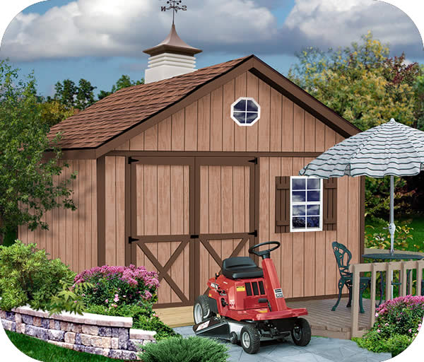 Brandon 12x20 Wood Storage Shed Kit - ALL Pre-Cut