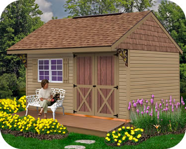 Best Barns Clarion 14x10 Wood Storage Shed Kit