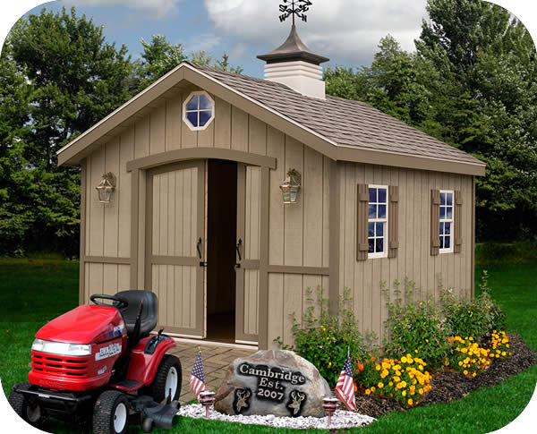 cambridge 10x12 wood storage shed kit all pre cut
