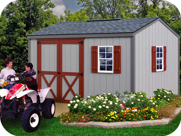 Cypress 12x10 Wood Storage Shed Kit - ALL Pre-Cut