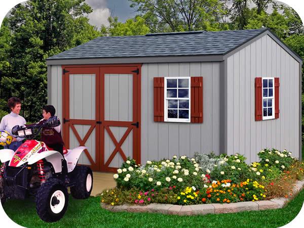 Cypress 12x10 Wood Storage Shed Kit All Pre Cut