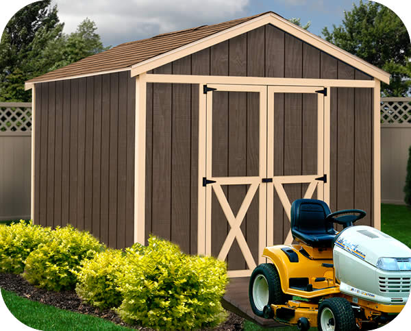 danbury 8x12 wood storage shed kit all pre cut - Garden Sheds Wooden