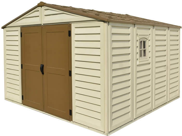 DuraMax 10x10 Woodbridge Plus Shed w/ Foundation Kit
