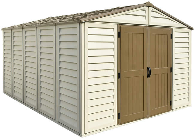 DuraMax 10x13 Woodbridge Plus Shed w/ Foundation Kit