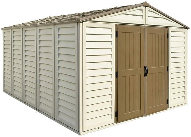 Duramax sheds vinyl storage shed kits for Cabane jardin kit