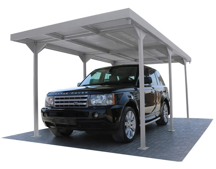 DuraMax 9x17 Palladium Car Shelter Kit - Silver