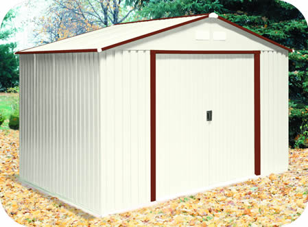 DuraMax 10x8 DelMar Metal Shed Kit w/ Brown Trim