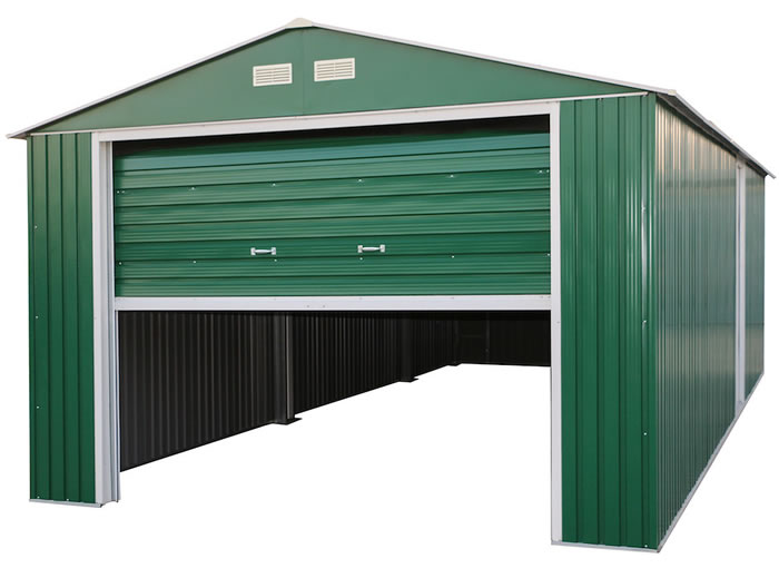 DuraMax 12x26 Green Metal Storage Garage Kit