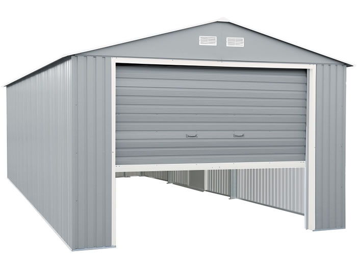 DuraMax 12x32 Light Gray Metal Storage Garage Kit