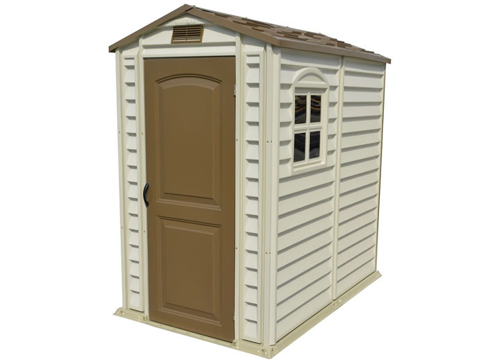 DuraMax 4x6 StorePro Vinyl Storage Shed Kit w/ Floor  sc 1 st  ShedsForLessDirect.com & Vinyl Sheds - PVC u0026 Coated Steel Storage Shed Kits