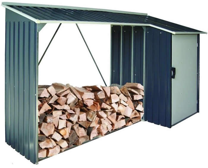duramax 8x3 woodstore combo steel shed kit gray