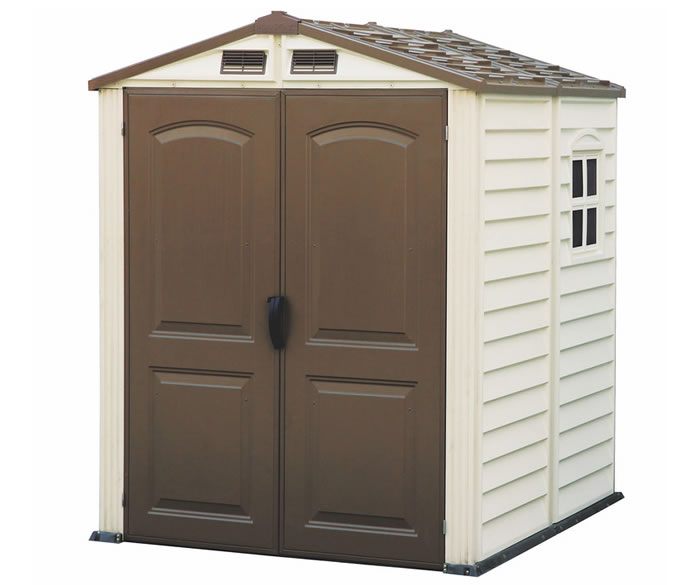 Duramax sheds vinyl storage shed kits for Vinyl storage sheds