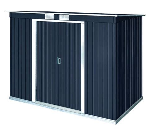 DuraMax 8x4 Pent Roof Metal Shed Kit w/ Vents