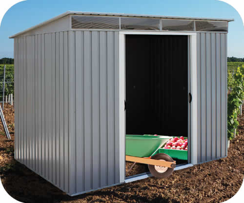 DuraMax 8x6 Pent Roof Metal Shed Kit w/ Skylights