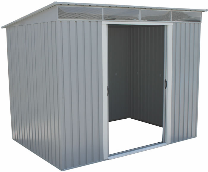 Duramax 8x6 Pent Roof Metal Shed Kit W Skylights