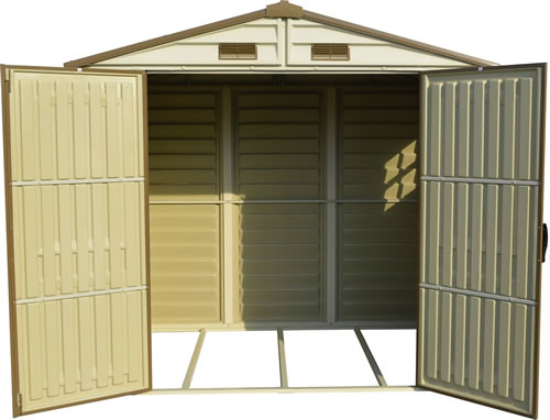 StoreAll 8x5 Shed - Doors Open - Foundation Frame