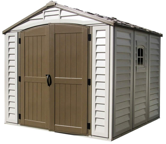 duramax 8x8 duraplus vinyl shed kit w foundation