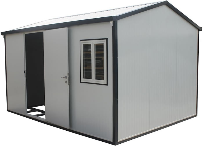Duramax 13x10 Insulated Shed w/ Foundation Kit - Gable