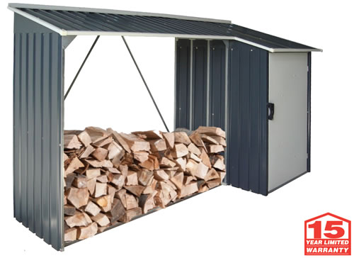 DuraMax Woodstore Firewood Storage Shed - 15 Year Warranty!