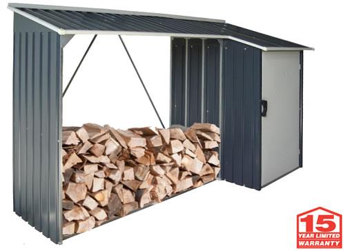DuraMax Woodstore Firewood Storage Shed - 15 Year Warranty!