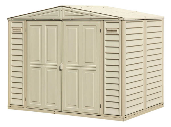 DuraMate 8x6 Vinyl Shed w/ Floor Kit
